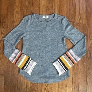 NWT Easel Sweater Sleeve Top